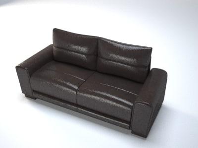 generic sofa 3d model