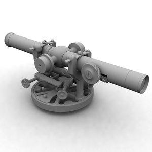 antique surveying instrument 3d max
