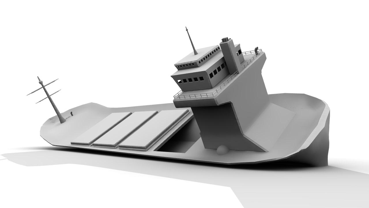 3d model tanker wreck