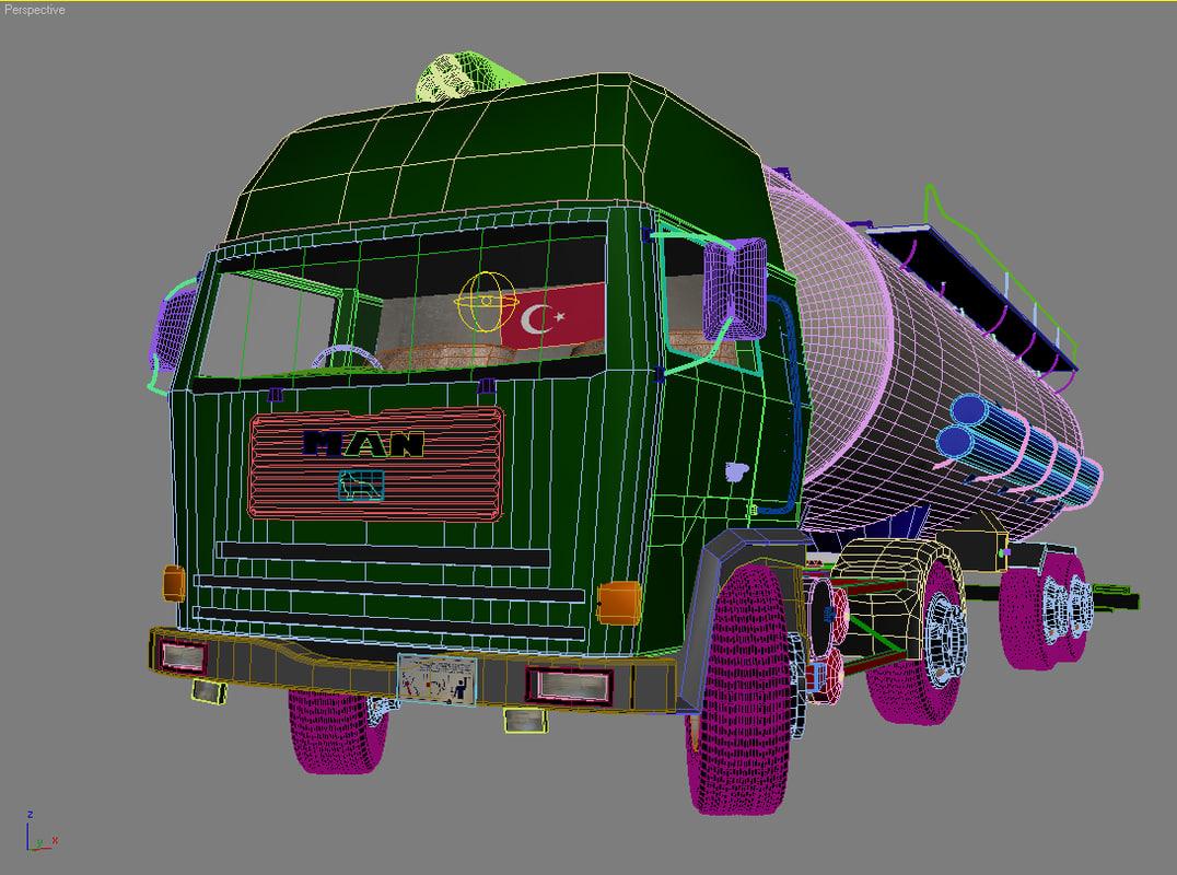 man truck 3d model