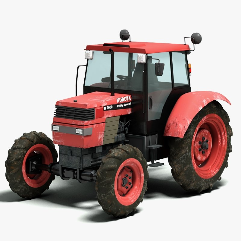 3d agricultural tractor model