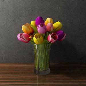 3d contemporary flower model