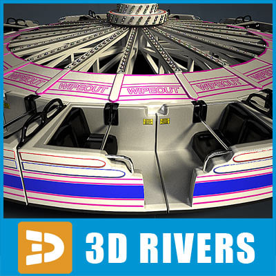wipeout ride amusement park 3d model