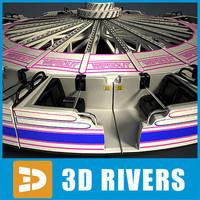 wipeout ride amusement park 3d model