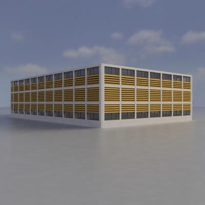 multi purpose building 3d obj