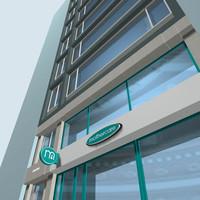 facade building 3d model