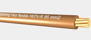3d model of vd - h07v-r 95mm2
