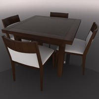 dining table chair 3d model