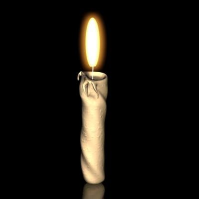 free candle flame 3d model