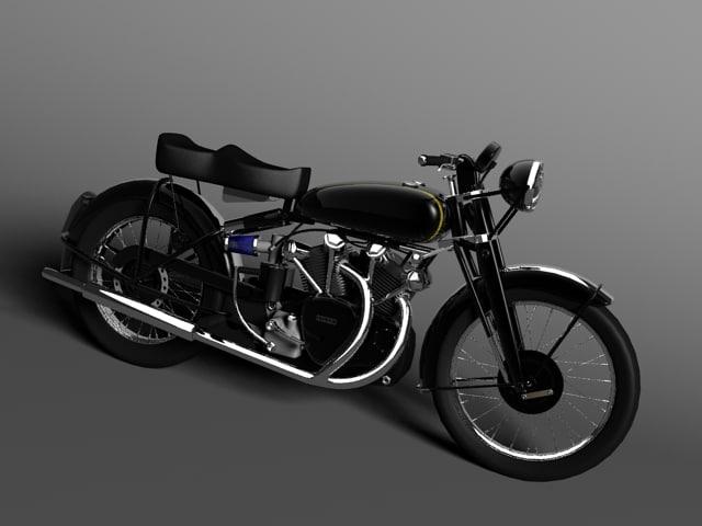 3d model of vincent black shadow 1950