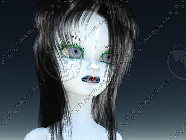 free little girl d o 3d model