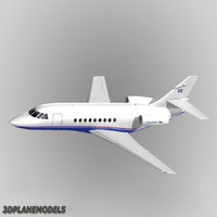 dassault falcon private livery 3d model