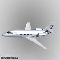 3d dassault falcon business jet