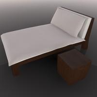 lounger table 3d c4d
