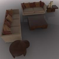 3d sofa coffee model