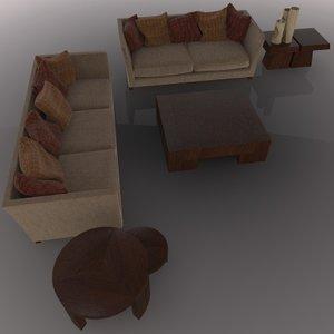 3d sofa coffee model