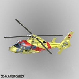 eurocopter dauphin ii lufttransport 3d model