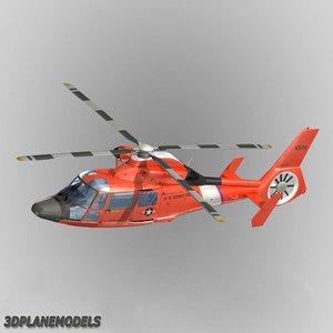 eurocopter hh-65a dauphin ii 3d model