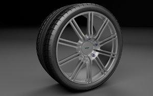 3d model wheel rims