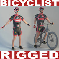 Bicyclist (rigged)
