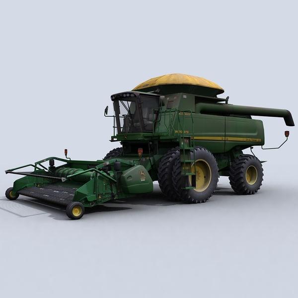 3d combine harvester belt pickup