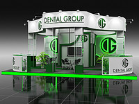 3d display booth 06 model