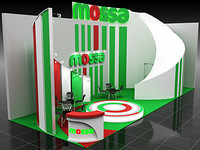 display booth 10 3d obj
