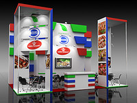 3d model display booth 11