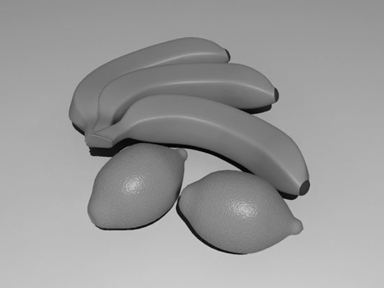 lemon banana 3d max