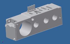 3d phneumatic manifold - k142175 model