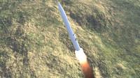 lgm-30 minuteman missile obj