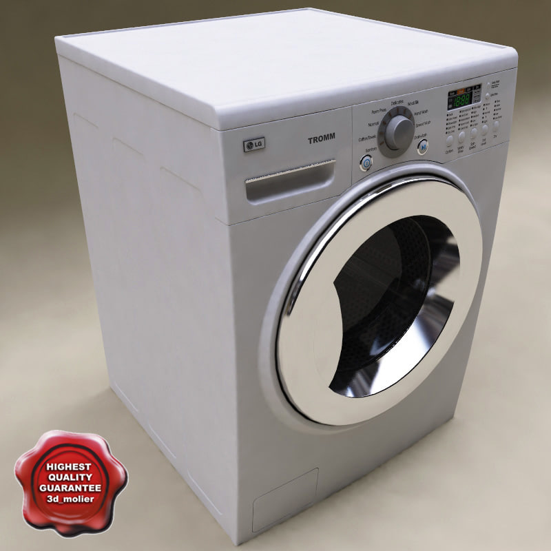 3d model lg washer dryer combo