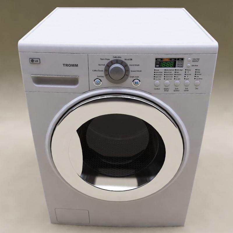 3d model lg washer dryer combo