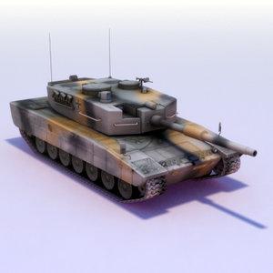 leopard2a4 leopard2 battle tank 3d model