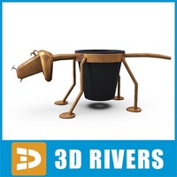 planter holder plant 3d 3ds