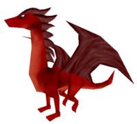 free low-poly dragon 3d model