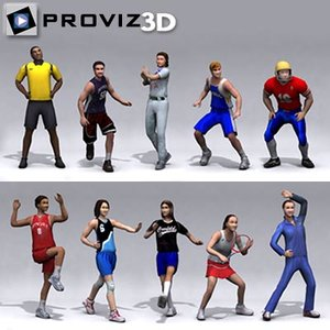 3ds max people: sports people