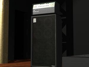 ampeg svt 8x10 cabinet 3d model