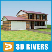 3ds small town house building