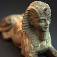 sphinx statue 3d max