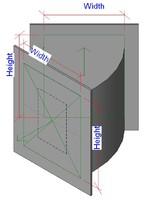 3d standard bend flanges model