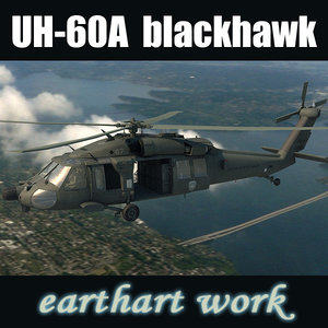 uh-60 black hawk helicopter 3d model