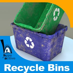3d model recycle bin