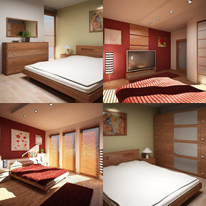 bedroom scene 3d 3ds