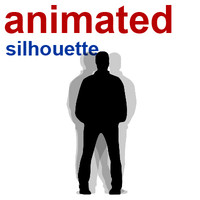free silhouette looping animation 3d model