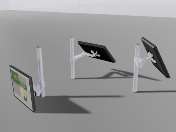 lcd monitor arm 3d model
