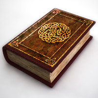 Photorealistic Old Sacred Book
