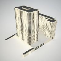 residental building city building1 3d model