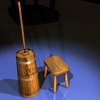 3ds max butter churn 01 butterchurn