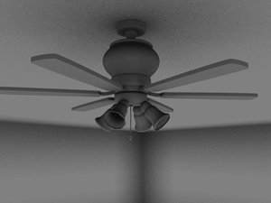 3d model ceiling fan lamps